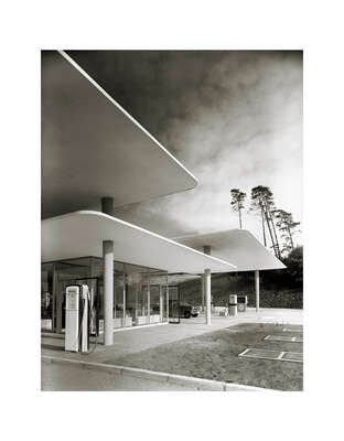 "curated Bauhaus artwork: Tankstelle ""Blauer See"" by Heinrich Heidersberger"