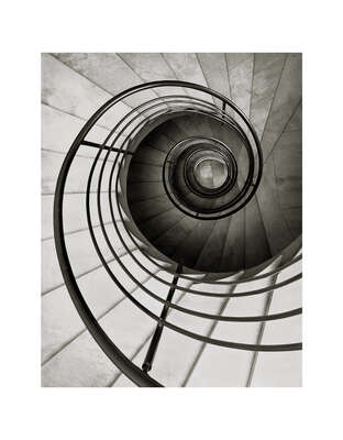 curated stair artworks: Bankhaus Nicolai, Braunschweig by Heinrich Heidersberger