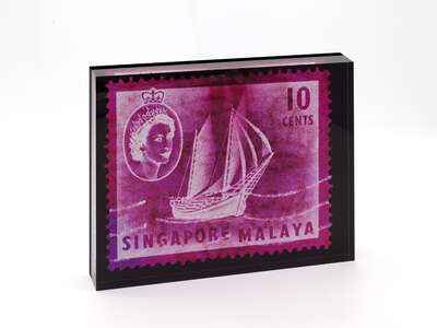 Designobjekt: 10 Cents QEII Ship Series (Magenta) de Heidler & Heeps Stamp Collection