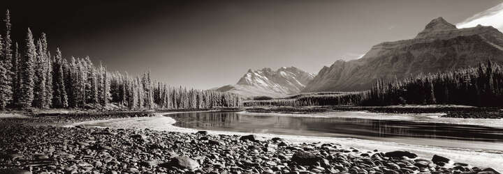 Athabasca River, Alberta, Canada by Helmut Hirler