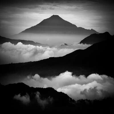 Black and White Prints: Tranquility by Hengki Koentjoro