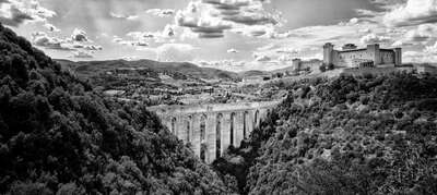 Art Prints: LUMAS black and white works: Ponte delle Torri by Helmut Schlaiß