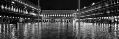 Black and White Architecture Prints: Piazza San Marco by Helmut Schlaiß