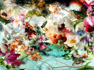 Flower Art Prints: Most Popular LUMAS Prints L'Embarquement pour Cythère Nº 11 by Isabelle Menin