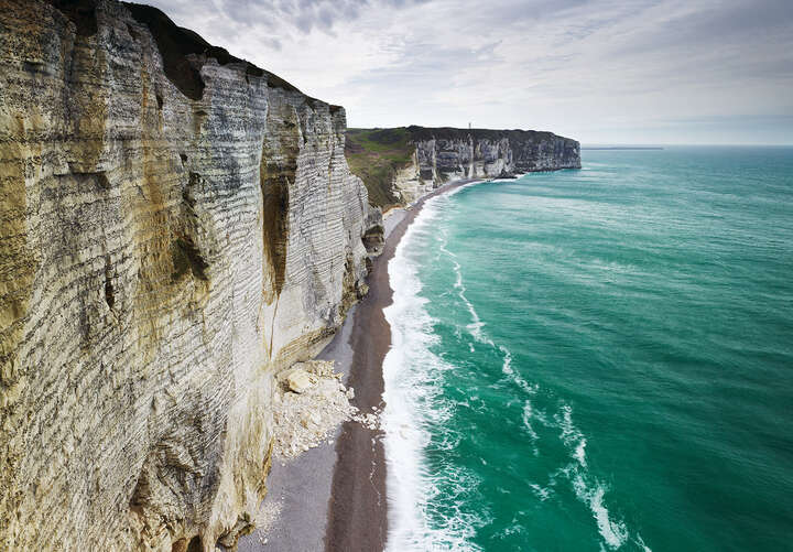 Chalk Cliffs, Normandy, France by Jonathan Andrew