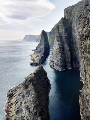 Landscape Wall Art: Sea stacks #1, Faroe Islands by Jonathan Andrew