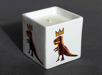 Kunstobjekt: GOLD DRAGON - Perfumed Candle von Jean - Michel Basquiat