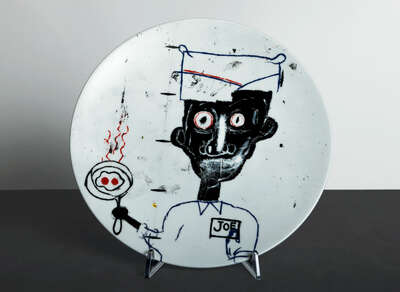 EYES & EGGS - Plate by Jean - Michel Basquiat