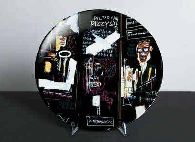 Gifts for Best Friends: HORN PLAYERS - Plate by Jean - Michel Basquiat