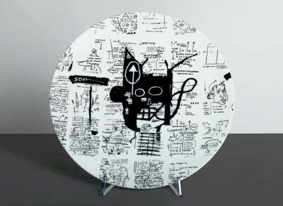 Kunstobjekt: RETURN OF THE CENTRAL FIGURE - Plate von Jean - Michel Basquiat