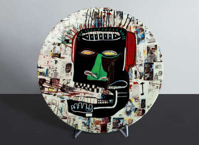 GLENN - Plate by Jean - Michel Basquiat