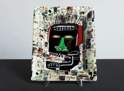 GLENN - Tray by Jean - Michel Basquiat