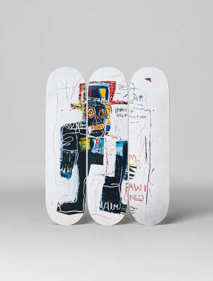 Abstract Wall Art  Irony of a Negro Policeman, 1981 by Jean - Michel Basquiat