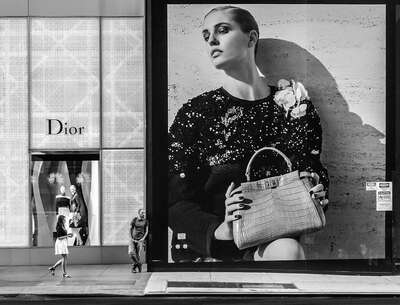 Fashion Wall Art:  Girl, Boy, Dior by Joseph Cela