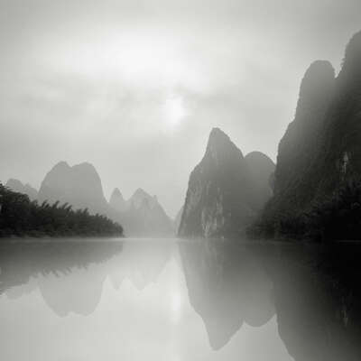 Curated selection of living room artworks: Li River, Guilin , Study 2 by Jonathan Chritchley