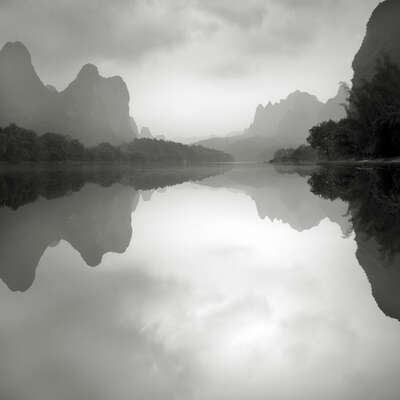 Li River, Guilin , Study 9 by Jonathan Chritchley