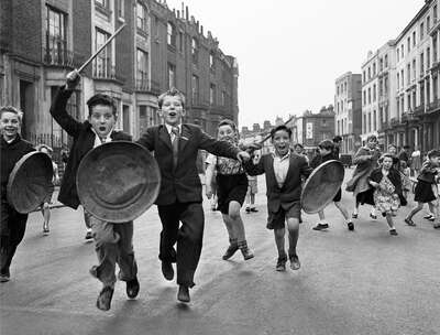 Vintage Photography: Dustbin Brigade by John Drysdale