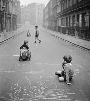 Vintage Photography: Street Playground by John Drysdale
