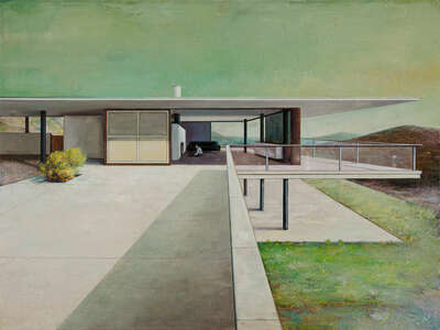 Mid Century Modern artworks: Modern house terrace by Jens Hausmann