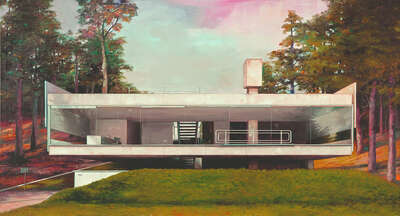 curated Bauhaus artwork: Modern house 3 by Jens Hausmann