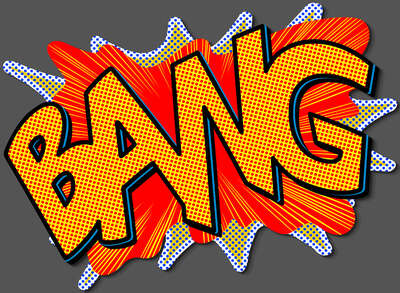 Pop Art Bilder: BANG! von Joe Mcdermott