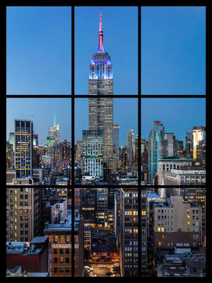 conceptual photography:  Manhattan at Sunset by Jack Marijnissen
