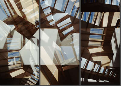 curated Bauhaus artwork: Carmy Skylight Triptych by Jenny Okun