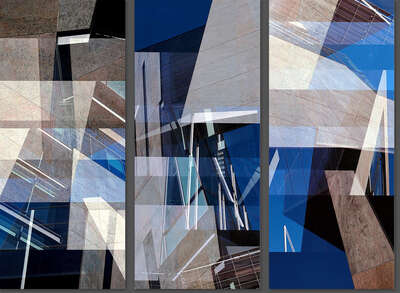 curated Bauhaus artwork: Morphosis Beverly Building Triptych by Jenny Okun