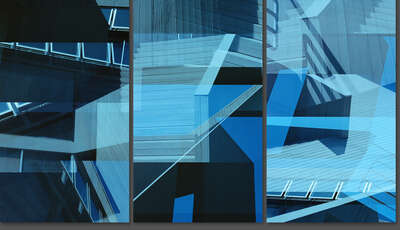 curated Bauhaus artwork: Gwathmey House Triptych by Jenny Okun