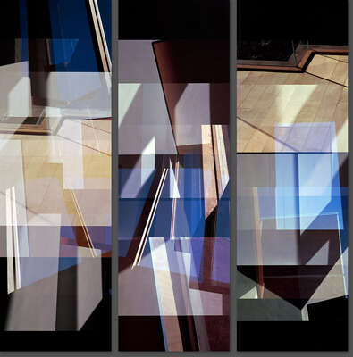 Famous modern artists: Carmy House Floor Triptych by Jenny Okun