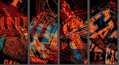 Abstract Architecture Art: Las Vegas Man Tetraptych by Jenny Okun