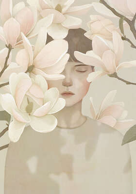 Curated pastel artworks: White shadow by Jiwoon Pak