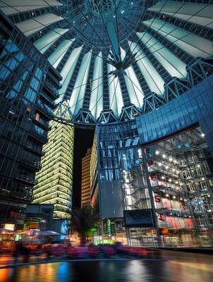 City Wall Art  Sony Center by Johannes Weinsheimer