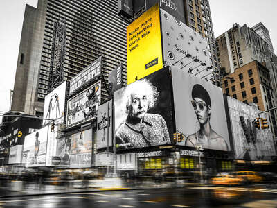 Einstein at Times Square by Johannes Weinsheimer
