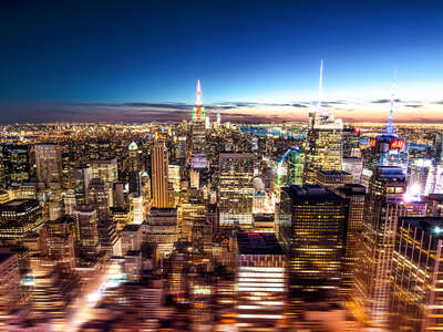 New York Bilder: Manhattan Sunset von Johannes Weinsheimer