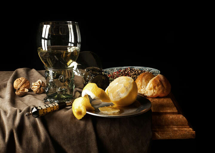 Still life with Römer and lemon by Kevin Best