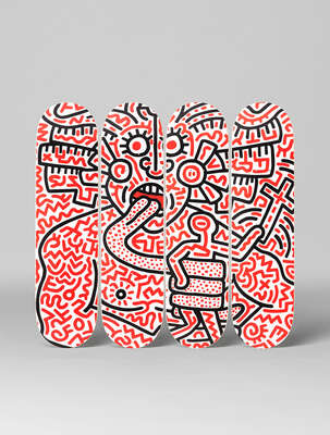 curated Pop Art artworks: Man and Medusa  by Keith Haring