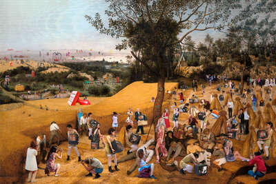 figurative art:  The Harvesters, Brueghel by Lluis Barba Cantos