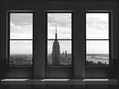 Gerahmte Bilder in der ArtBox: New York On My Mind II von Luc Dratwa