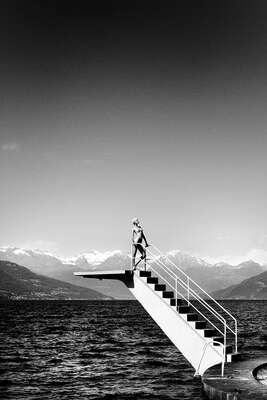 Black and White Photography: Lago di Como by Lukas Dvorak