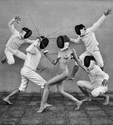 nude photography:  Fencers 1 by Lukas Dvorak