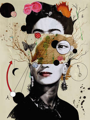 Celebrity Art:  Deconstructed Frida by Loui Jover
