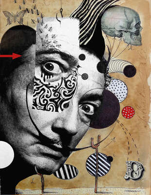 Famous surrealist paintings and artists: Hello Dali by Loui Jover