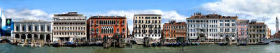 Venice panoramas: Grand Canal, Riva degli Schiavoni #3 by Larry Yust