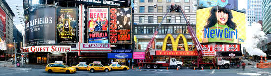 New York Pictures: Times Square by Larry Yust