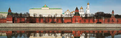 Curated Lumas Architecture Prints: Moscow, Kremlevskaya Embankment by Larry Yust
