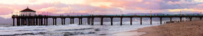 Manhattan Beach Pier by Larry Yust