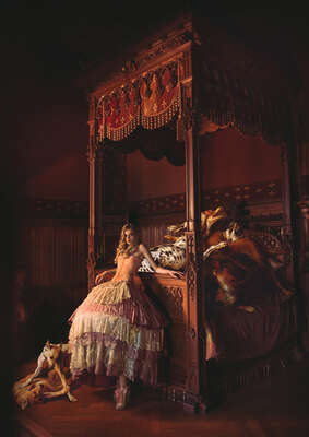 Fashion Wall Art:  Bedtime Brawl by Miss Aniela