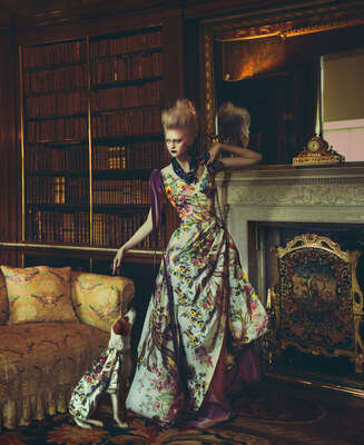Fashion Wall Art:  The Bookkeeper by Miss Aniela