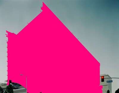 Curated pink artworks: Untitled Urbanscape 1 by Mauren Brodbeck